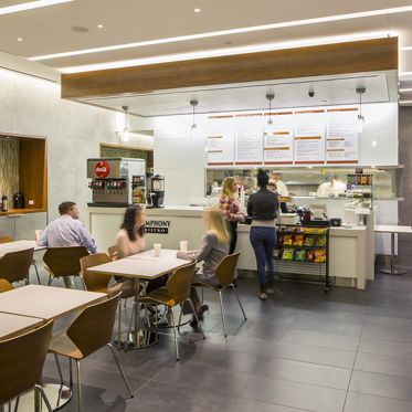 Interior photography of Symphony Bistro at Symphony Towers, 750 B Street, San Diego, CA 92101