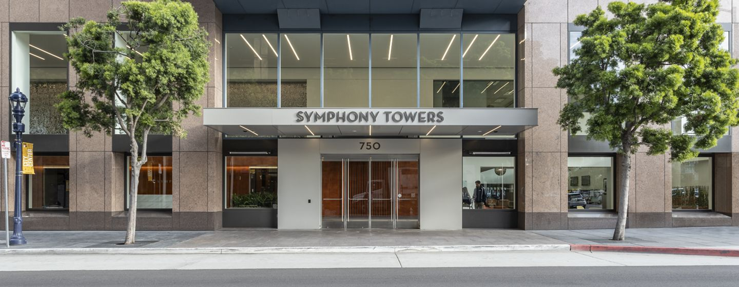 Rendering view of Symphony Towers in San Diego, CA.