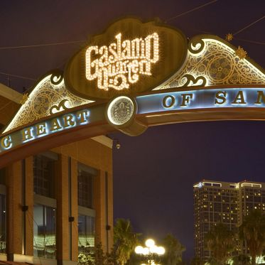 View of Downtown San Diego - Horton Plaza & Gaslamp Quarter. Moore 2012. Shared Drive Submission - December 11, 2012.