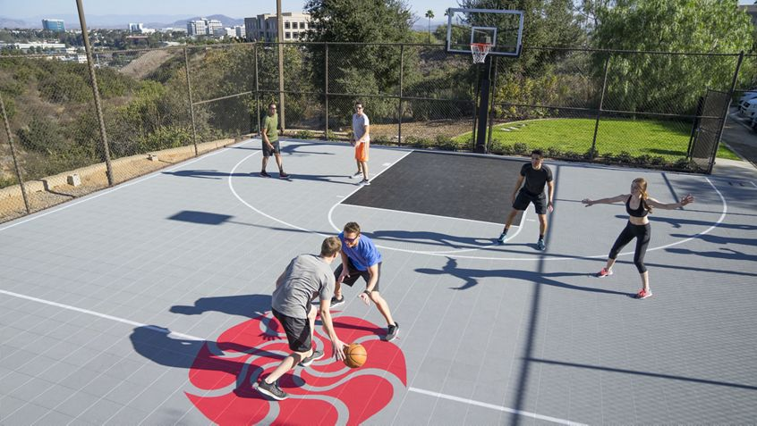 Lifestyle photography of Basketball court at Eastgate Kinetic, San Diego, Ca