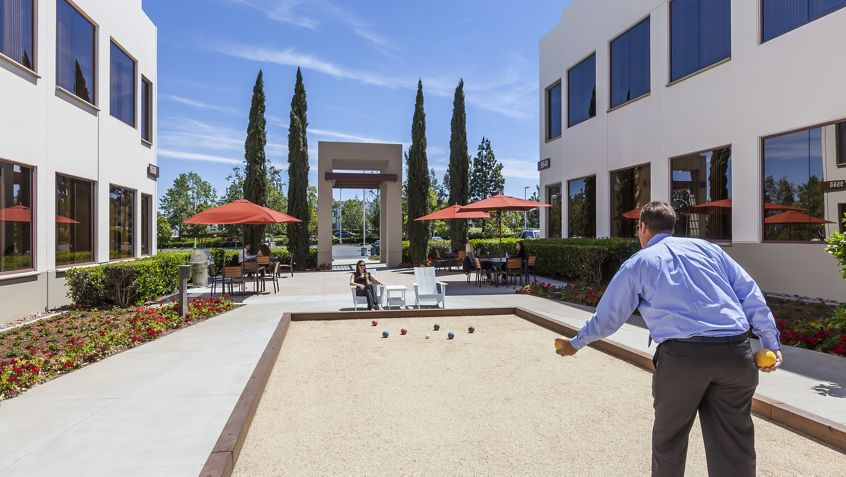 Bocce ball court at Eastgate.
