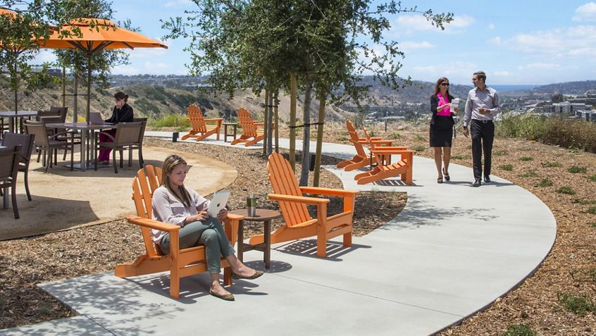 Outdoor workspace at Eastgate.