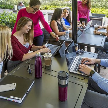 Image of The Commons outdoor workspace at Centerside, Mission Valley, San Diego