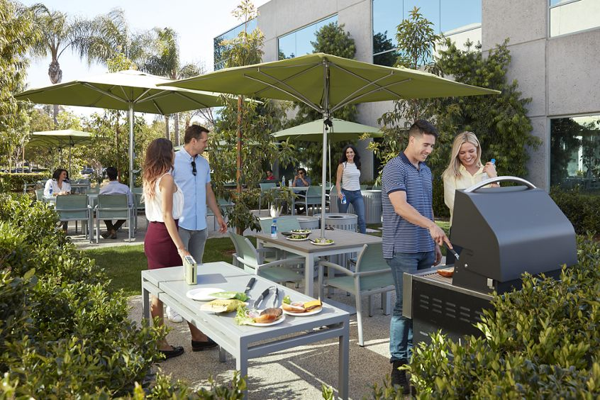 Outdoor workspace photography at Canyon Ridge, San Diego, CA