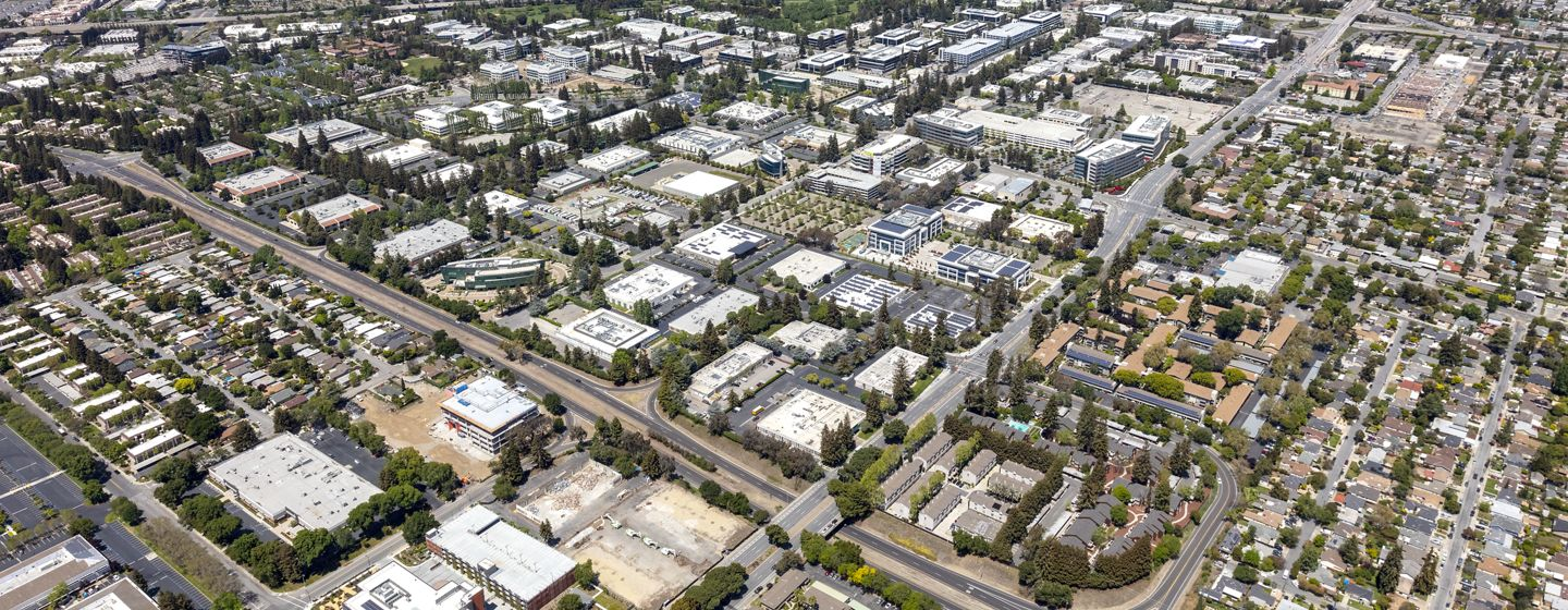 Aerial photography of the Sunnyvale submarket in Northern California, Silicon Valley