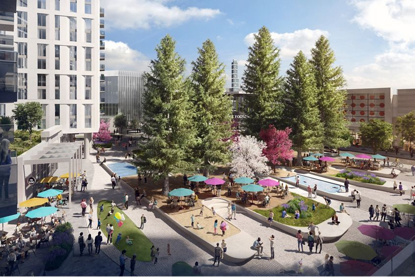 Rendering of downtown Sunnyvale, a featured amenity for 275 N Mathilda located in Sunnyvale, CA