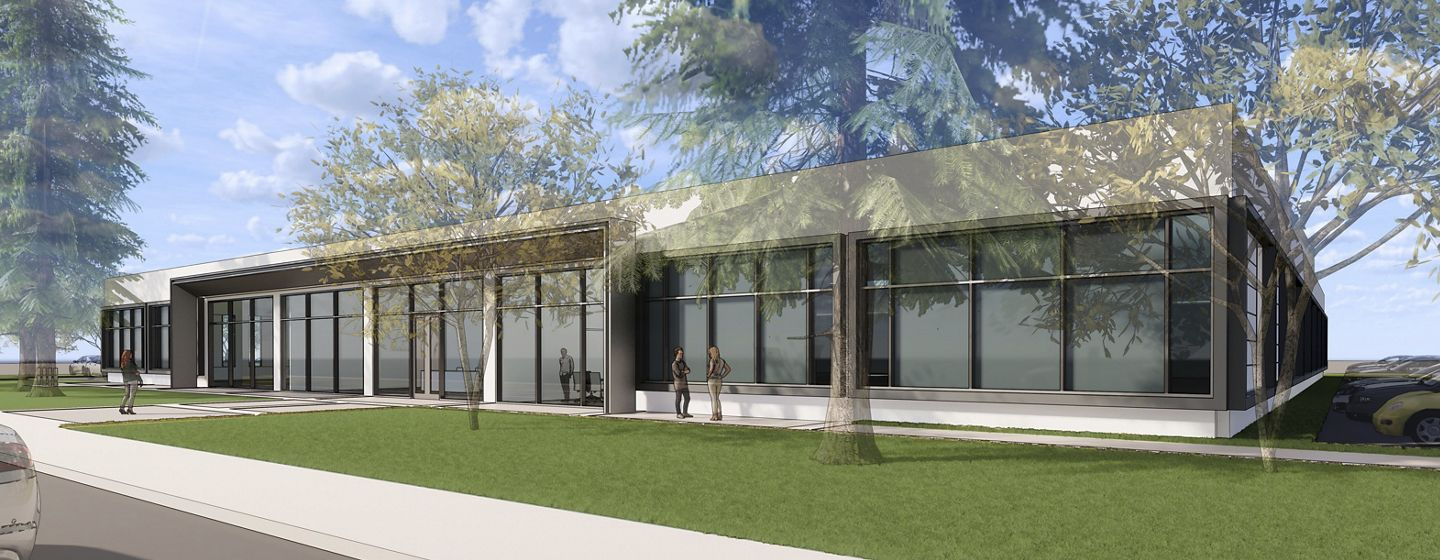 Rendering of exterior of 305 N Mathilda Office Properties in Sunnyvale, CA.