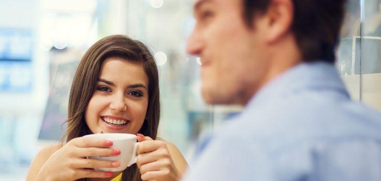 Couple enjoying a coffee