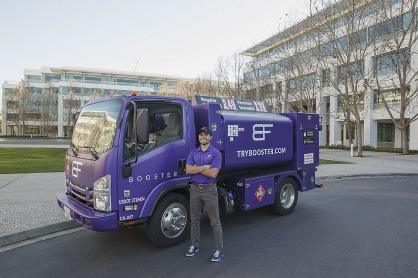 Booster fuels gas delivery