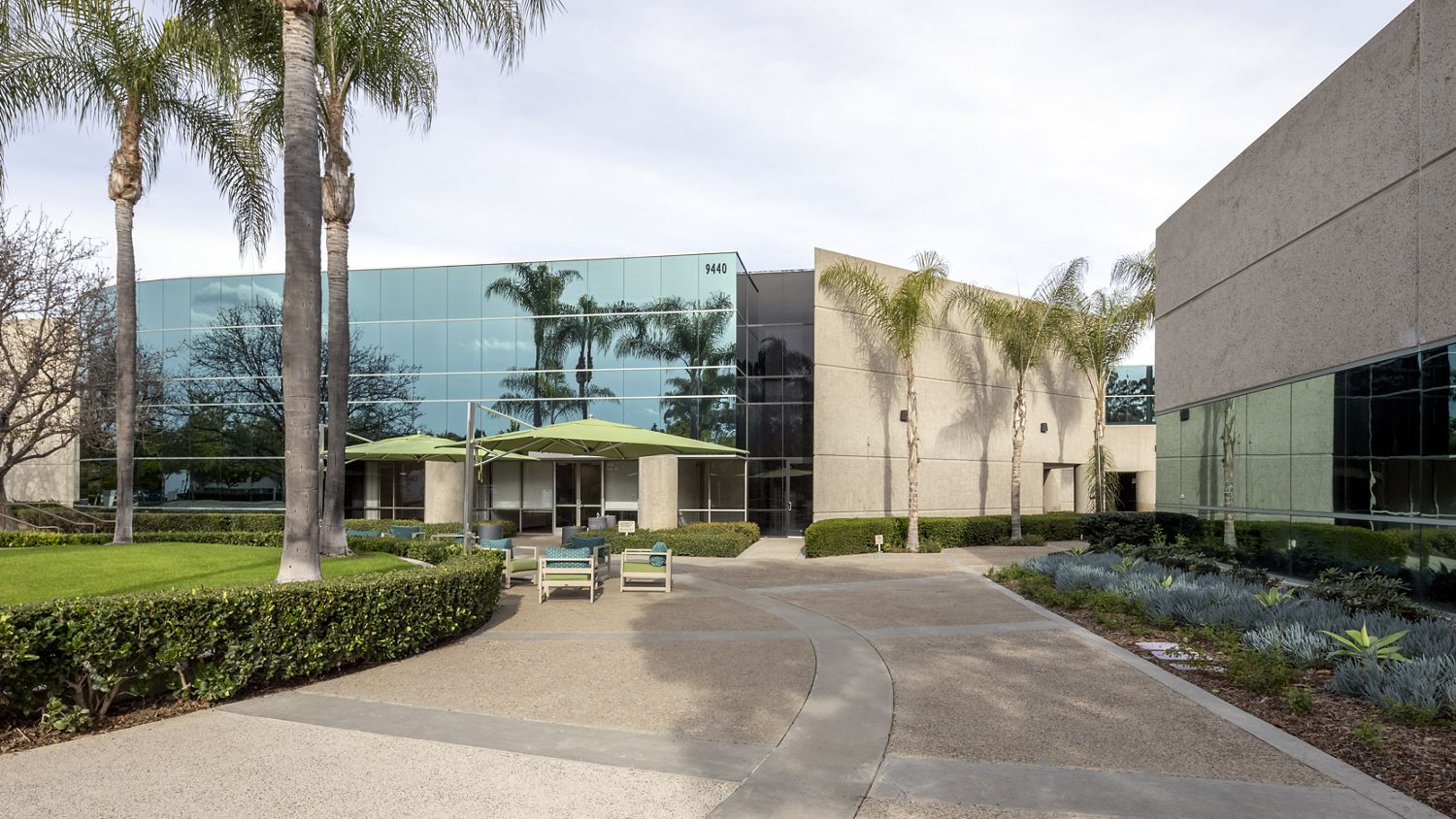 Before reinvestment photography of Canyon Ridge Technology Park in San Diego, CA