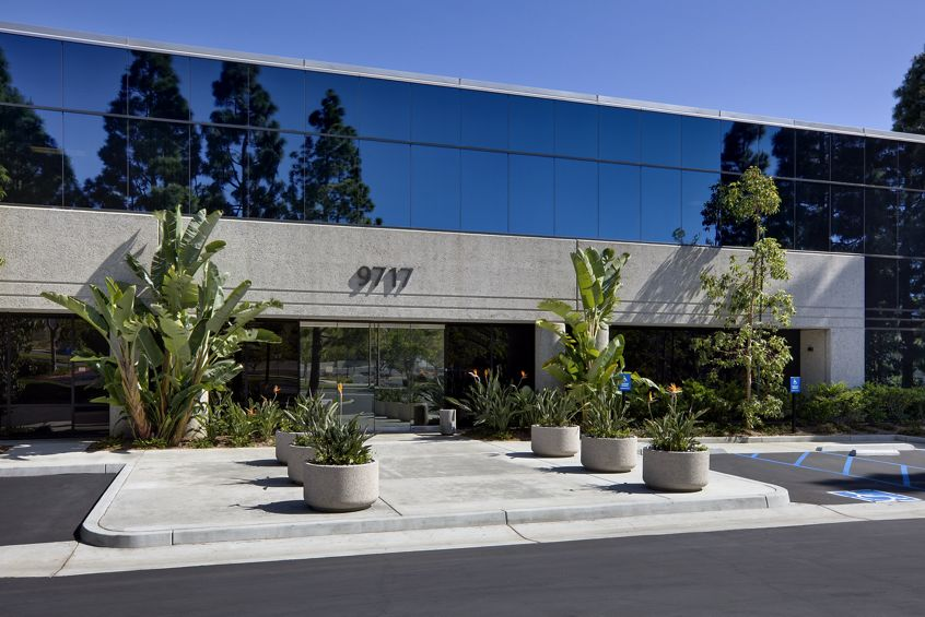 Exterior views of Cornerstone Corporate Center in Sorrento Mesa in San Diego. Moore 2012. Shared Drive Submission - July 23, 2012.